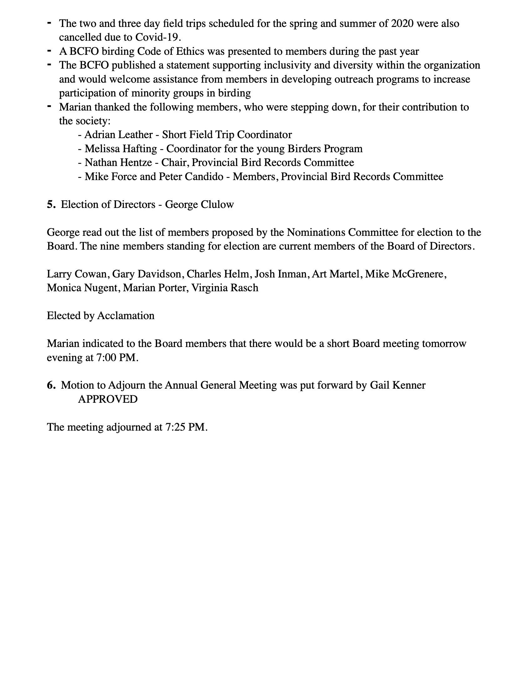 BCFO - Minutes AGM, June 25, 2020 2-2